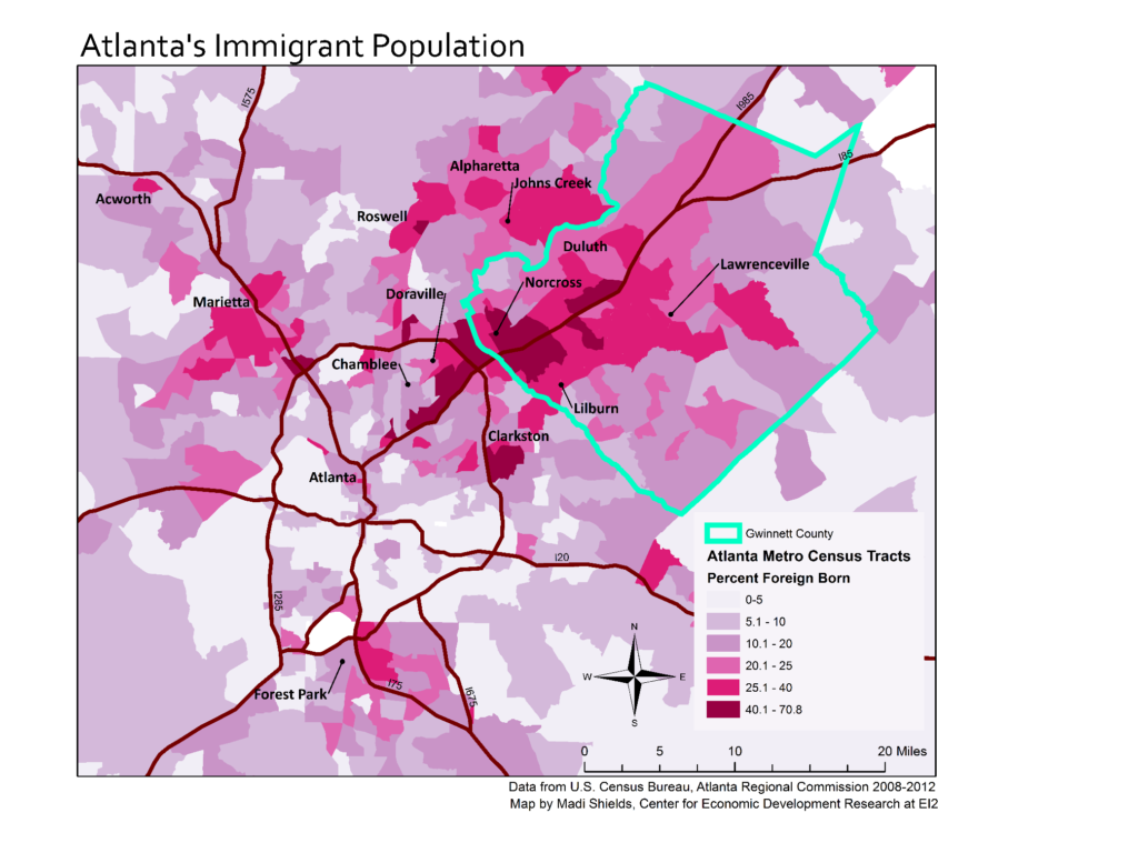 Figure 1: Foreign Born population in Atlanta Metro